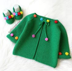 Knit Baby Dress, Knitted Baby Cardigan, Baby Knitting Patterns, Pull Bebe, Baby Dress Design, Baby Vest, Baby Baby, Baby Girl Crochet, Baby Sweaters