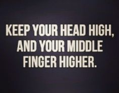 Keep your middle finger higher