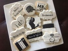 Black and white bridal cookies. Awesome!