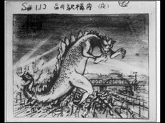 Gojira 1954 storyboard