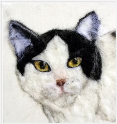 Needle felted Custom Dog or Cat Portrait /Handmade Art animal /Needle felted 2D Pet Portrait/ Wool Painting Needle Felted