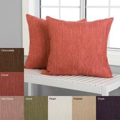 @Overstock - These Stephano pillows are the perfect accent to any room in your home. These throw pillows feature a polo stripe textured fabric design.  http://www.overstock.com/Home-Garden/Stephano-18-inch-Decorative-Pillows-Set-of-2/5612515/product.html?CID=214117 $38.99