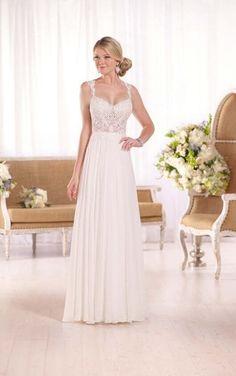 D2044 Guipure Lace Wedding Dress By Essense Of Australia Essence