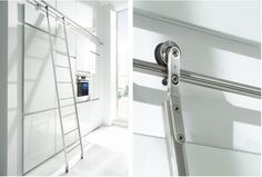 Quattro Stainless Steel Kitchen Ladder from 5 Favorites: Library Ladders in the Kitchen