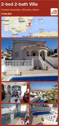 2-bed 2-bath Villa in Ciudad Quesada, Alicante, Spain ►€169,950 #PropertyForSaleInSpain