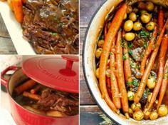 Slow Cooker Pot Roast -- several variations Beef Pot Pies, Beef Pot Roast, Pot Roast Recipes, Crockpot Recipes, Yummy Recipes, Recipe Tasty, Paleo Recipes, Best Slow Cooker