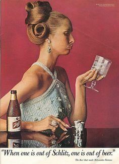 Women Drinking Beer — old-ads-and-mags: Schlitz - 1967 Beer Advertisement, Retro Advertising, Retro Ads, Vintage Advertisements, Vintage Ads, Vintage Posters, Vodka, Schlitz Beer, American Beer