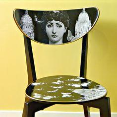 Fornasetti Ikea Hack DIY for decoupaged chair