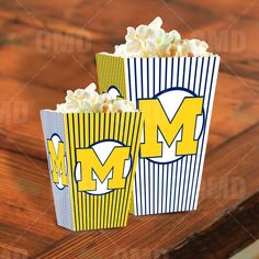 Michigan Wolverines Sports Party Popcorn Boxes