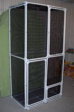 PVC Sugar Glider Cage DIY- I heard something about these maybe not being safe... Research it!