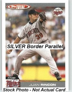 2004 Topps Total Silver Parallel #398 Juan Rincon - Minnesota Twins (Baseball Cards) by Topps Total Silver Parallel. $0.88. 2004 Topps Total Silver Parallel #398 Juan Rincon - Minnesota Twins (Baseball Cards)