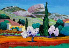 Jacques PEYRELEVADE: garlaban, Pastel, Provence, Nature, Paintings, Charcoal Picture, Color Combinations Outfits, How To Paint, Ink, Board