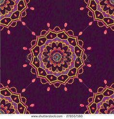 Ornamental mandala seamless pattern