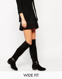 New Look Wide Fit Over The Knee Boots With Strap Detail