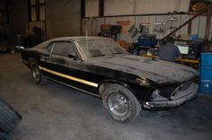 Purchased new in 1969, this Cobra Jet Mustang Mach 1 sat abandoned in a basement for 28 years before recently seeing the light of day.