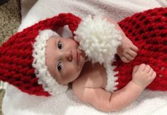 Crochet christmas pic prop for baby