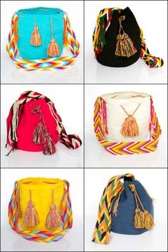Hippie bags, hippie style, handmade bags, bohemian style, mochilas wayuu