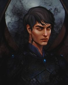 honestly this illustration was my fav from 3 of them i did for whimsify box my boy Azriel from a court of thorns and roses series by hope you will like it guys A Court Of Wings And Ruin, A Court Of Mist And Fury, Book Characters, Fantasy Characters, Zootopia Characters, Fictional Characters, Feyre And Rhysand, Sara J Maas, Sarah J Maas Books