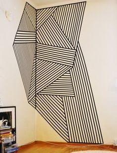 washi art, washi tape crafts, wall decals, apartment decor