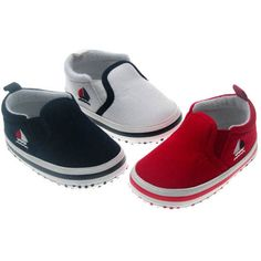 BABY BOY'S BOAT DESIGN SHOES 0-3 MONTHS IN WHITE