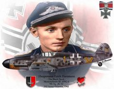 "Hauptmann Erich Hartmann ""The Black Devil"" Messerschmitt Bf 109 G-6"
