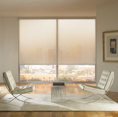 Motorized shades help set the right mood in your condo throughout the day with a push of a button.