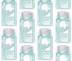 Curtains Mason Jar fabric by juliakodlart on Spoonflower - custom fabric