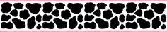 Pink Cow Wallpaper Border Wall Decals for baby girl nursery or kids room decor. Cowgirl or Barnyard Theme #decampstudios