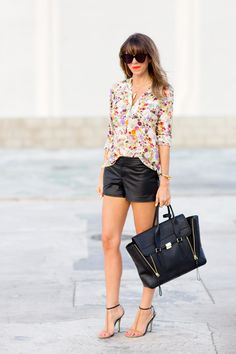 3 WAYS TO STYLE LEATHER SHORTS from @Sarah Yates / A House in The Hills - our newest contributor!   Read more - http://www.stylemepretty.com/living/2013/07/25/3-ways-to-style-leather-shorts/