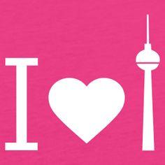 I Love Berlin (I <3 Berlin) pink Girlie Shirt with TV Tower / Fernsehturm - http://iloveberlin.spreadshirt.de/i-love-berlin-scoop-shirt-A10661678