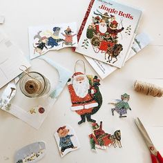 It may have taken me a few years, but I'm finally getting around to tackling the first thing I ever pinned on Pinterest. Ornaments! Simply cut out images from your favorite book, glue them to card stock, cut out and attach some twine to hang. #nevertoolatetoaddsomethingtothetree