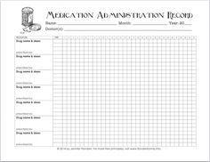 5 Best Images of Free Printable Medication Log Sheets