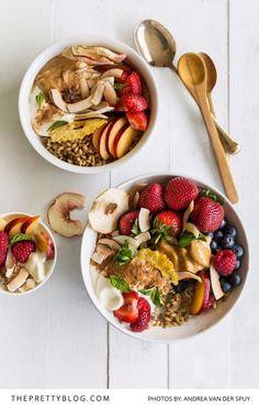 A Seasonal Breakfast Bowl Recipe by Tanya Heathcote   Photograph by Andrea Van Der Spuy