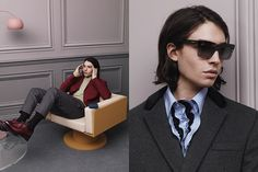 PRADA — We like the rich color and the contradiction of materials