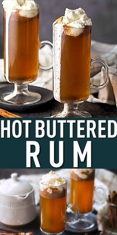Hot Buttered Rum: The BEST way to warm up on a cold night! Easy to make in 5 minutes or less. #hotbutteredrum #butteredrum #easy #recipe #best #quick #microwave #hotdrinks #drinks #drink #hotdrink #hottoddy #drinksalcohol #rum #rumdrinks #toddy #cocktail #cinnamon #bakingamoment Rum Cocktail Recipes, Rum Recipes, Coffee Recipes, Cooking Recipes, Hot Buttered Rum, Hot Toddy, Cold Night, Cake Videos, Christmas Drinks