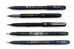 Brush Pen Sampler - 5 Pen Bundle - Jet Pens - for your favourite letter lover! Just add a pretty notebook or two!