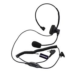 abcGOODefg 2 Pin OverHead Headset Earphone with Boom MicVOX for Motorola radio GP88 GP88S GP350 SP10 * Continue to the product at the image link.