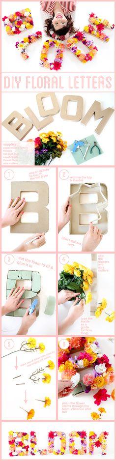 Floral Letters DIY Tutorial
