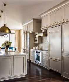 50 Favorites for Friday: Oldies But Goodies Gray Kitchen Cabinets Favorites Friday Goodies Oldies Taupe Kitchen Cabinets, Kitchen Cabinet Colors, Grey Cabinets, Painting Kitchen Cabinets, Repainted Kitchen Cabinets, Pantry Cabinets, Kitchen Counters, Upper Cabinets, Design Blogs