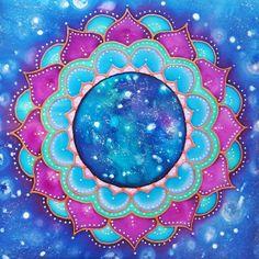 Universe painting. Silk Mandala Lelekcsengettyu.blogspot.com