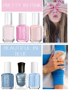 Great pastel nail colors for Spring
