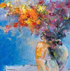 """Blue Floral"" - Robert Burridge"