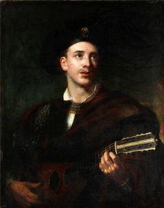 Rembrandt Harmensz van Rijn - Gitarrspelande man