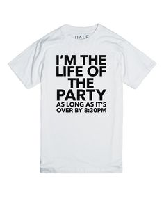 Look at this Ht White 'Life of the Party' Crewneck Tee on #zulily today!