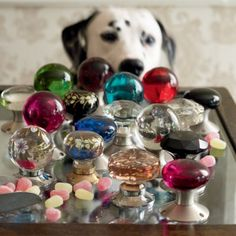 Glass Turning Faceted Door Knobs Clear Pair - Turning Door Knobs - Knobs - Homeware