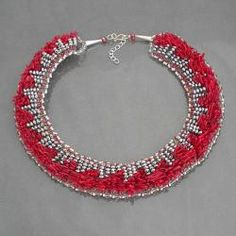 hoops in this color/style would be interesting. metal beads & coral