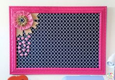 Made It Monday:  Fabric Covered and Framed Memo Board