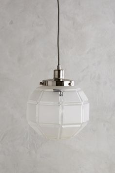 Frosted Facet Globe Pendant - anthropologie.com