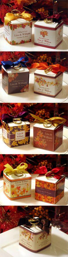 Autumn Fall Wedding Favor Boxes