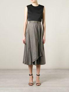 Krizia Vintage Long Wrap Skirt - A.n.g.e.l.o Vintage - Farfetch.com